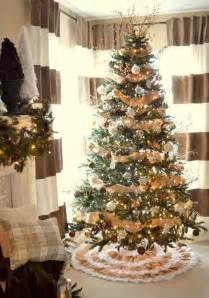 decorated christmas trees with burlap pictures reference