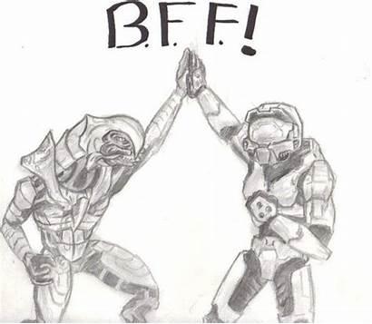 Halo Master Chief Arbiter Dibujo Bff Para