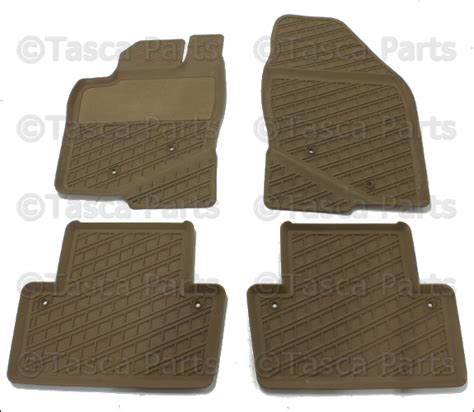volvo floor mats beige rubber all weather floor mats 2001 2007 volvo v70 xc