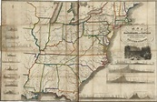 Map of the railroads and canals, finished, unfinished, and ...