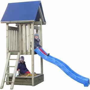 spielturm mit rutsche und schaukel und sandkasten vp04 With französischer balkon mit garten rutsche