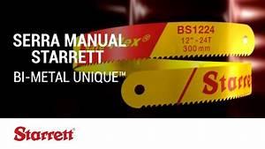 Starrett  Serra Manual - Bi-metal Unique U2122