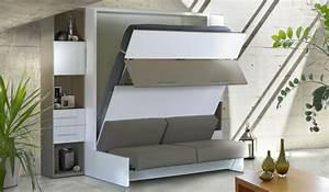 Lit Armoire Gain De Place : armoire lit ~ Premium-room.com Idées de Décoration