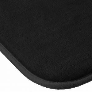 tapis salle de bain quotmemoire de formequot 80x50cm noir With tapis salle de bain noir