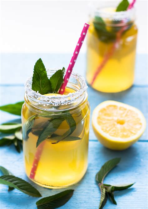 mint lemonade water kefir light orange bean