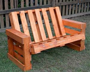 Genius Plans For Benches by Wooden Pallet Bench Plans Recycled Things