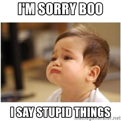 Im Sorry Memes - i m sorry boo i say stupid things sorry baby meme generator