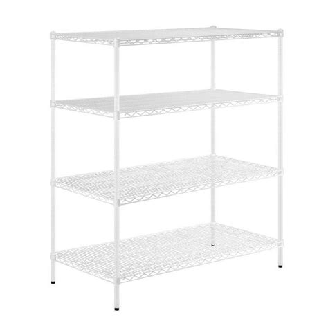 White Metal Storage Shelves by Honey Can Do 48 In H X 54 In W X 24 In D 4 Shelf Steel