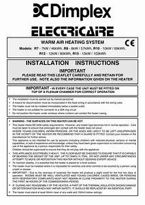 Electricaire Installation Instructions Issue 008