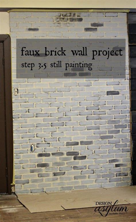 hometalk diy making faux brick walls