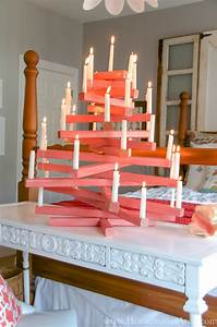 diy modern candle christmas tree home stories a to z With kitchen cabinets lowes with homemade candle holders christmas