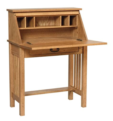 Mission Home Office Wood Secretary Desk   woodworking