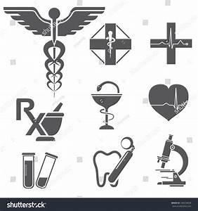 Medical Symbols Icons Medicine Pharmacy Symbols Stock ...