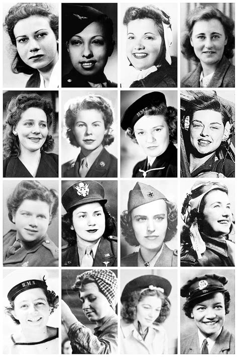wwii hairstyles  collection  wwii photographs