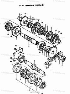 Suzuki Motorcycle 1978 Oem Parts Diagram For Transmission
