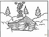 Coloring Log Pages Cabin Printable Cabins Colouring Mountain Woods Template Books Christmas Wood Supercoloring Winter Snowy Logs Cottage Silhouettes Loading sketch template