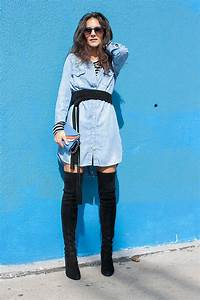 initials la stuart weitzman over the knee boots hm With robe pull et cuissarde