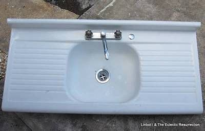 enamel sinks kitchen vintage porcelain enamel kitchen sink drainboard 3566