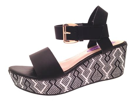 Womens Strappy Platform Wedge Sandals Summer Wedges Shoes