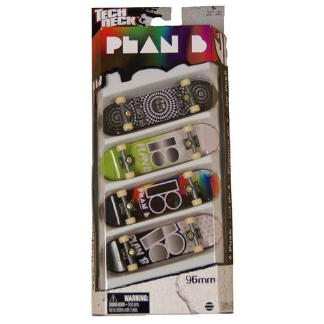 plan b tech decks 4 pack spin master trix tech deck fingerboard 4 pack plan