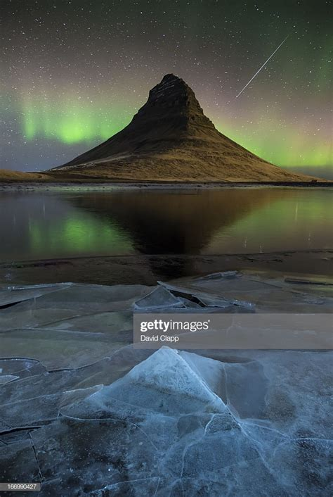 Meteor Over Kirkjufell Iceland Stock Photo Getty Images