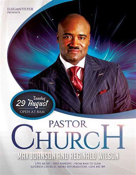pastors church  flyer template  photoshop