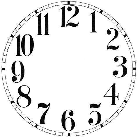 clock face images print    graphics fairy