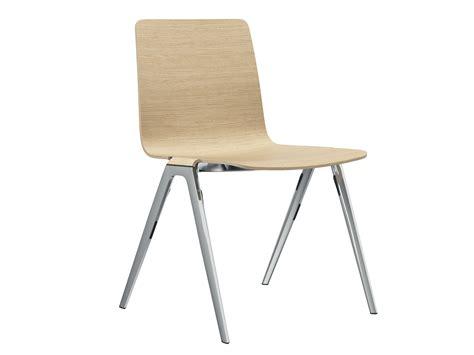 ameublement de bureau chaise empilable en bois a chair chaise by brunner design