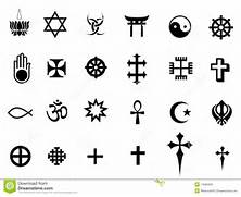 Stock Photo  Religions...Religions Of The World Symbols