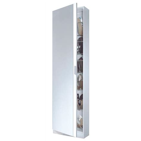 zapato armoire 224 chaussures 180cm blanc miroir achat vente meuble 224 chaussures zapato