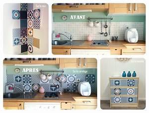 Stickers Carreaux Cuisine : j 39 ai test pour vous les stickers d cor s fa on carreaux de ciment pour relooker ma cuisine ~ Preciouscoupons.com Idées de Décoration