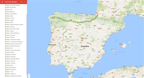 camino santiago map camino de santiago frances on maps camino de
