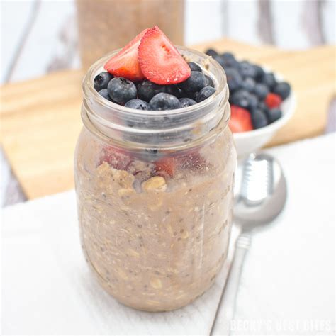 These overnight oats recipes offer a quick, satisfying breakfast you can make the night before. Berry Chocolate Protein Overnight Oats | Becky's Best Bites