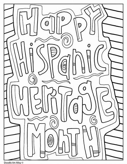 Heritage Hispanic Month Coloring Printables Events October
