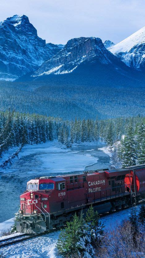 canadian pacific train winters iphone wallpaper iphone