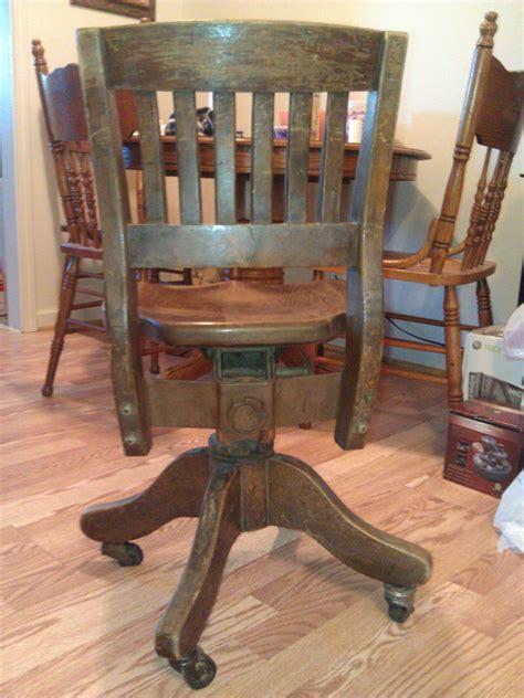 wooden swivel desk chair wooden swivel desk chair antique appraisal instappraisal