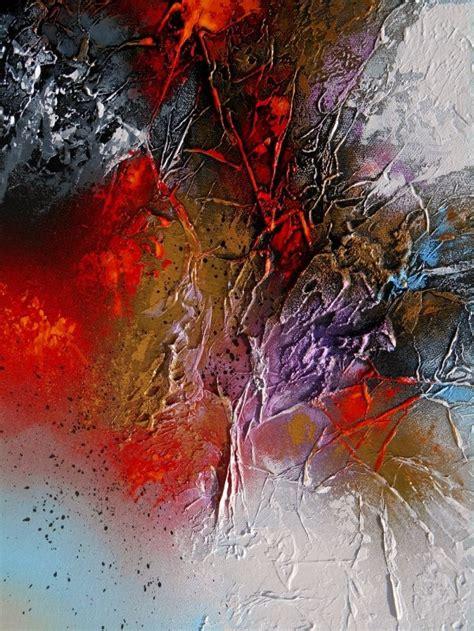 tableau abstrait contemporain moderne quot ophiuchi quot peinture acrylique en relief noir bleu dor 233