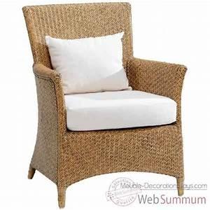 Coussin Fauteuil Rotin : fauteuil nevis rotin kooboo gris avec coussin t482 kok 427 1g de meuble louisiane ~ Preciouscoupons.com Idées de Décoration