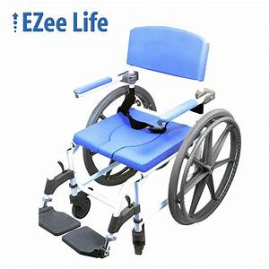 Ezee Life Heavy Duty Wide Shower Commode Chair