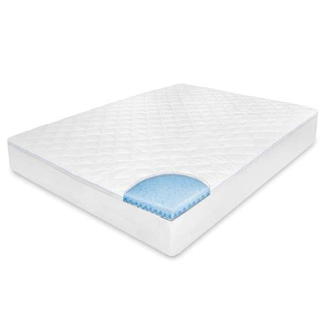 home depot mattress cover biopedic king memory foam mattress pad 71084 the home depot