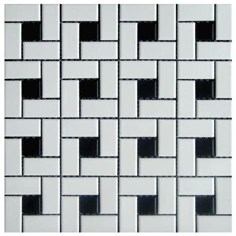 adex white black pinwheel floor mosaic garden state tile