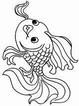 Coloring Pages Goldfish Fish Printable Recommended Goldfishes Mycoloring sketch template