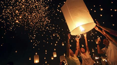 light up the sky thousands of lanterns light up the sky in thailand nbc news