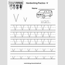 Kindergarten Letter V Writing Practice Worksheet Printable  Handwriting  Letter V Worksheets
