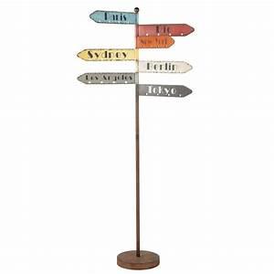 Maison Du Monde Porte Manteau : portemanteau panneaux de direction en m tal effet rouille ~ Melissatoandfro.com Idées de Décoration