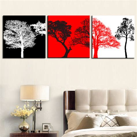 aliexpress com buy unframed 3 sets canvas painting red