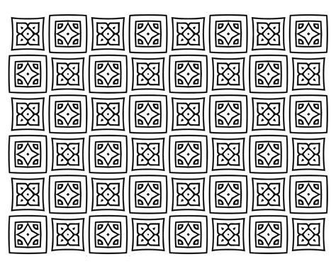 square quilt pattern adult coloring page