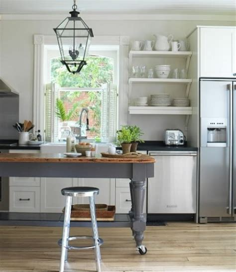 kitchen island farm table 30 ideas de estanter 237 as abiertas en la cocina decorar hogar 5065