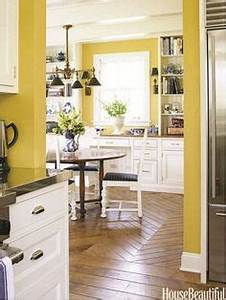 Yellow kitchen decor on pinterest yellow kitchens for Kitchen colors with white cabinets with be strong and courageous wall art