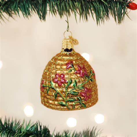 bee skep ornament christmas decor  crafts  world